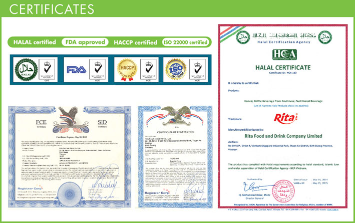 Certification of OEM Beverage Viet Nam