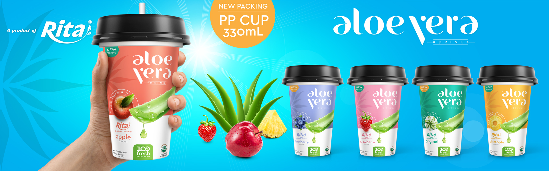 aloe vera with strawberry