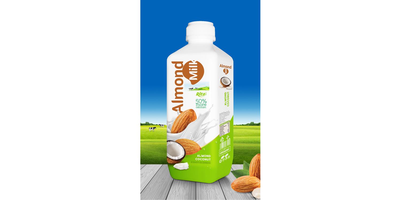 Almond milk with coconut 1000 ml PP bottle