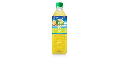 Coconut water with pineapple flavor  500ml Pet bottle from RITA US