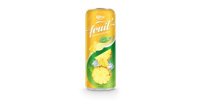 pineapple fruit juice enrich vitamin C in 320ml tin can from RITA US