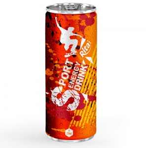 Energy drink 250ml aluminum canned 4